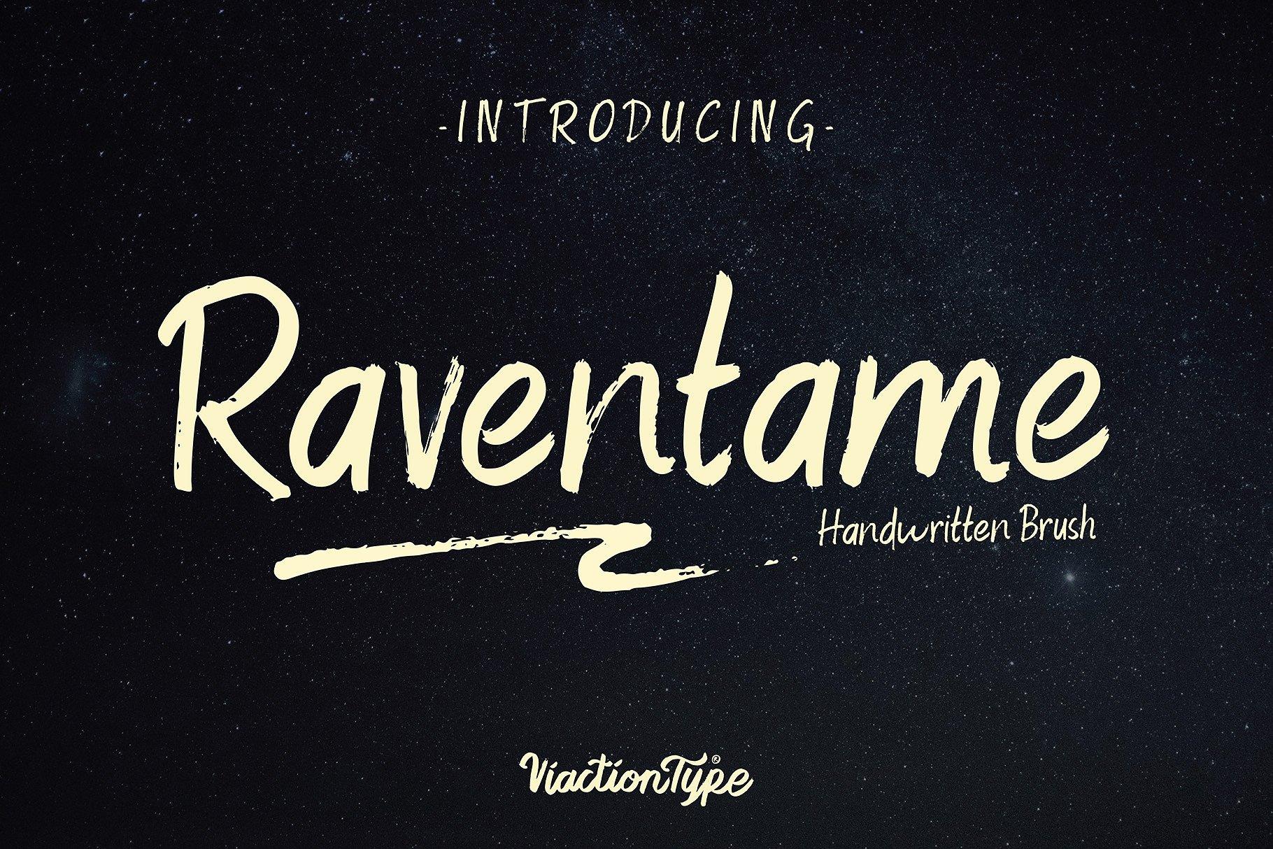 Raventame手写手绘英文字体下载