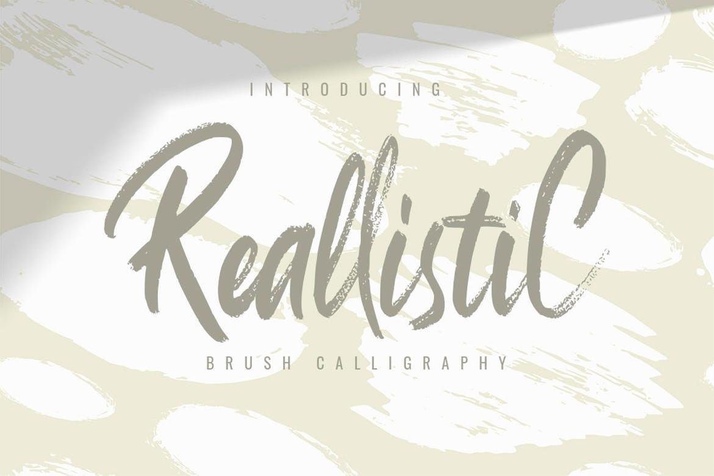 ReallistiC笔刷笔触手写涂鸦海报英文字体下载