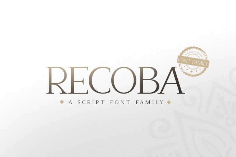 Recoba经典衬线logo排版英文字体下载