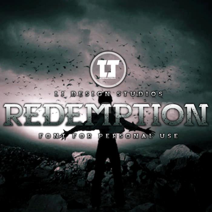 Redemption简约斑驳质感艺术英文字体下载