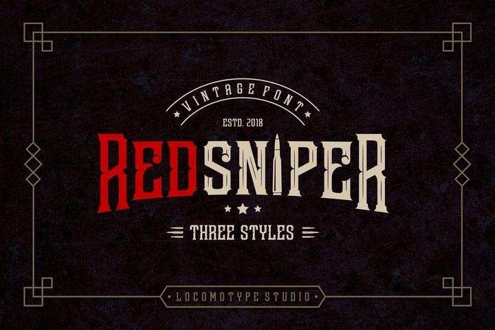 Redsniper哥特纹身游戏英文字体下载