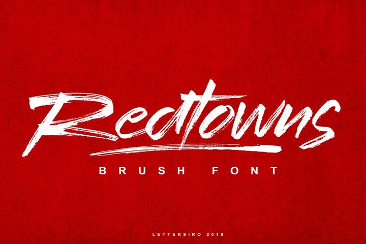 Redtowns大气书法笔触英文字体下载