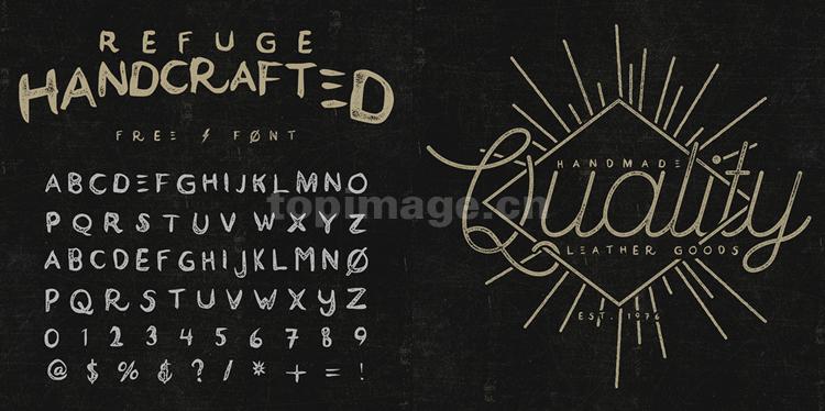 Refuge手绘破损质感手写英文字体下载