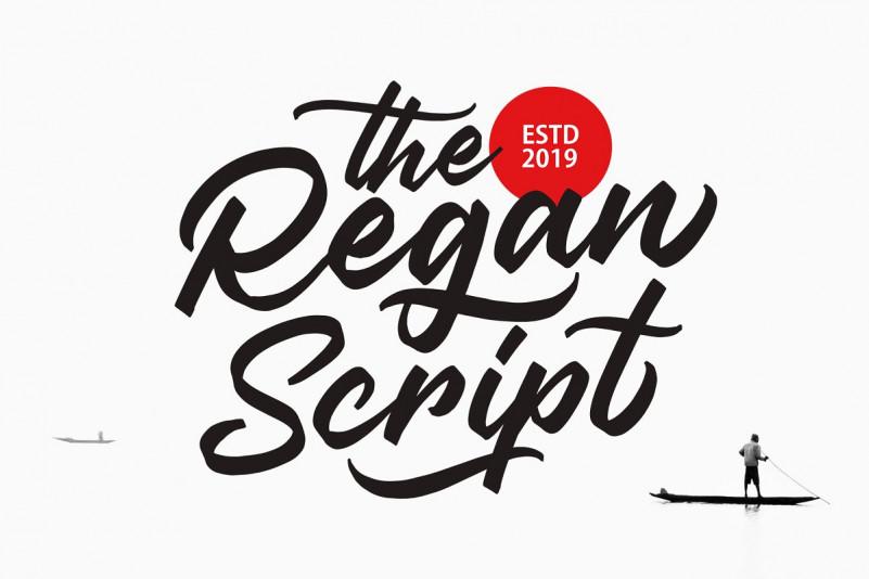 Regan手写手绘时尚连笔电商英文字体下载
