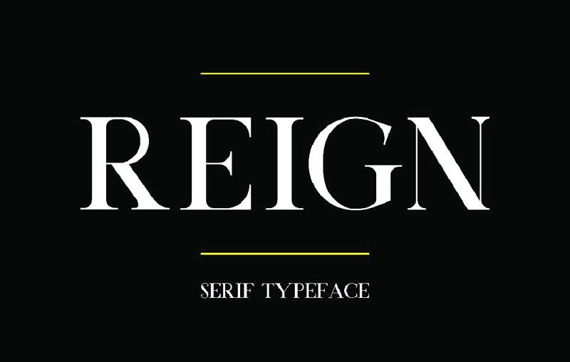 Reign现代衬线英文字体下载