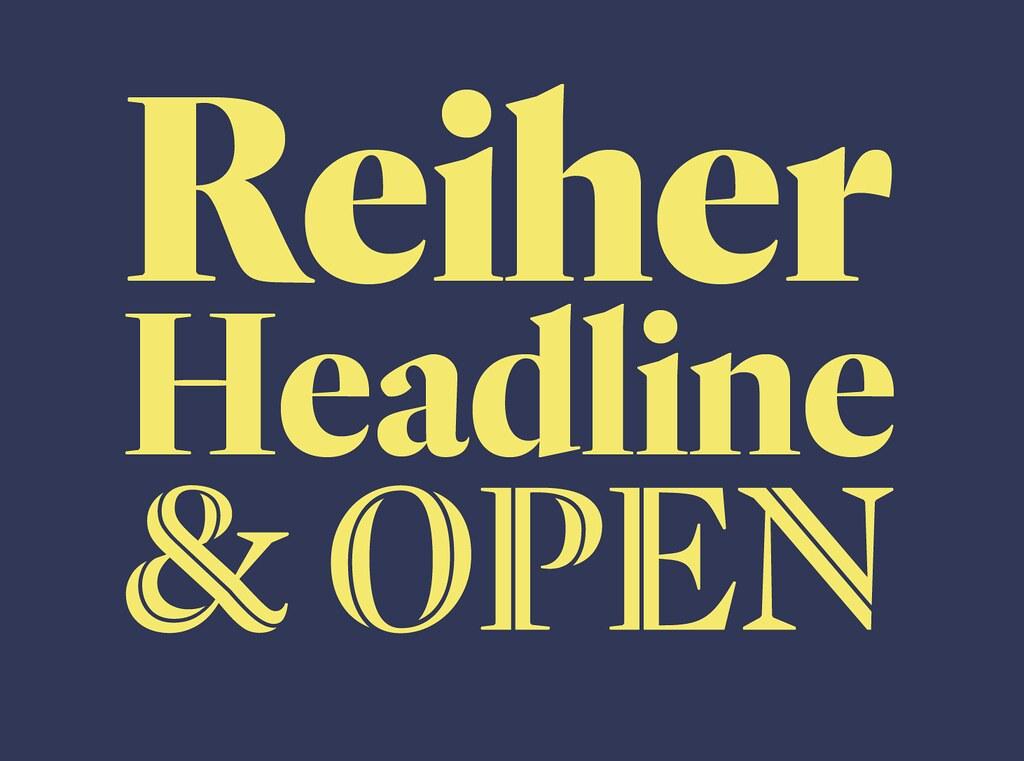 ReiherHeadline衬线经典设计logo英文字体下载