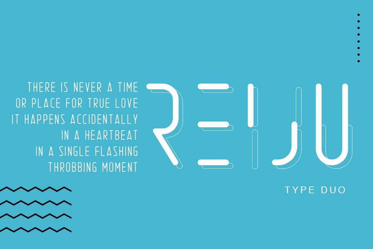 Reiju现代无衬线简洁logo创意英文字体下载