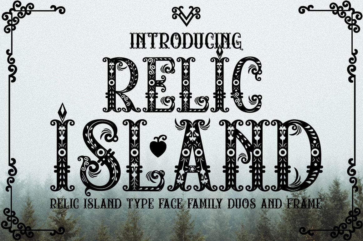 Relic Island 个性哥特卡片棋牌游戏英文字体下载