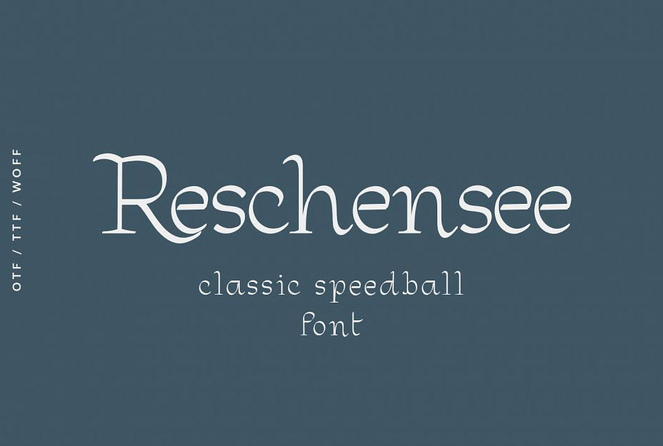 Reschensee现代创意衬线logo英文字体下载