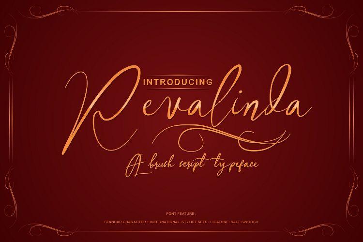 Revalinda婚礼请柬卡片手写英文字体下载