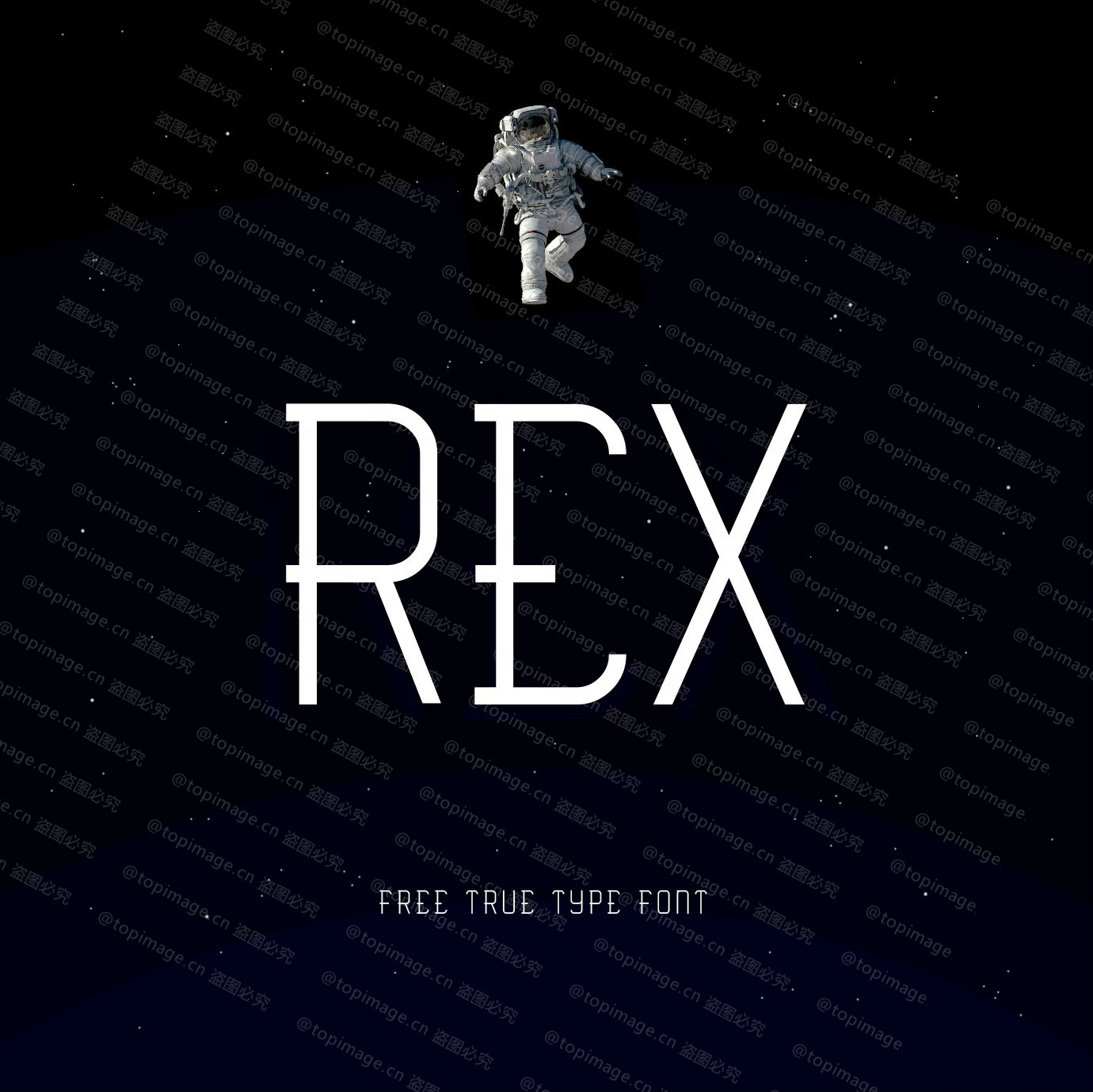 Rex科技现在简约纤细海报英文字体下载