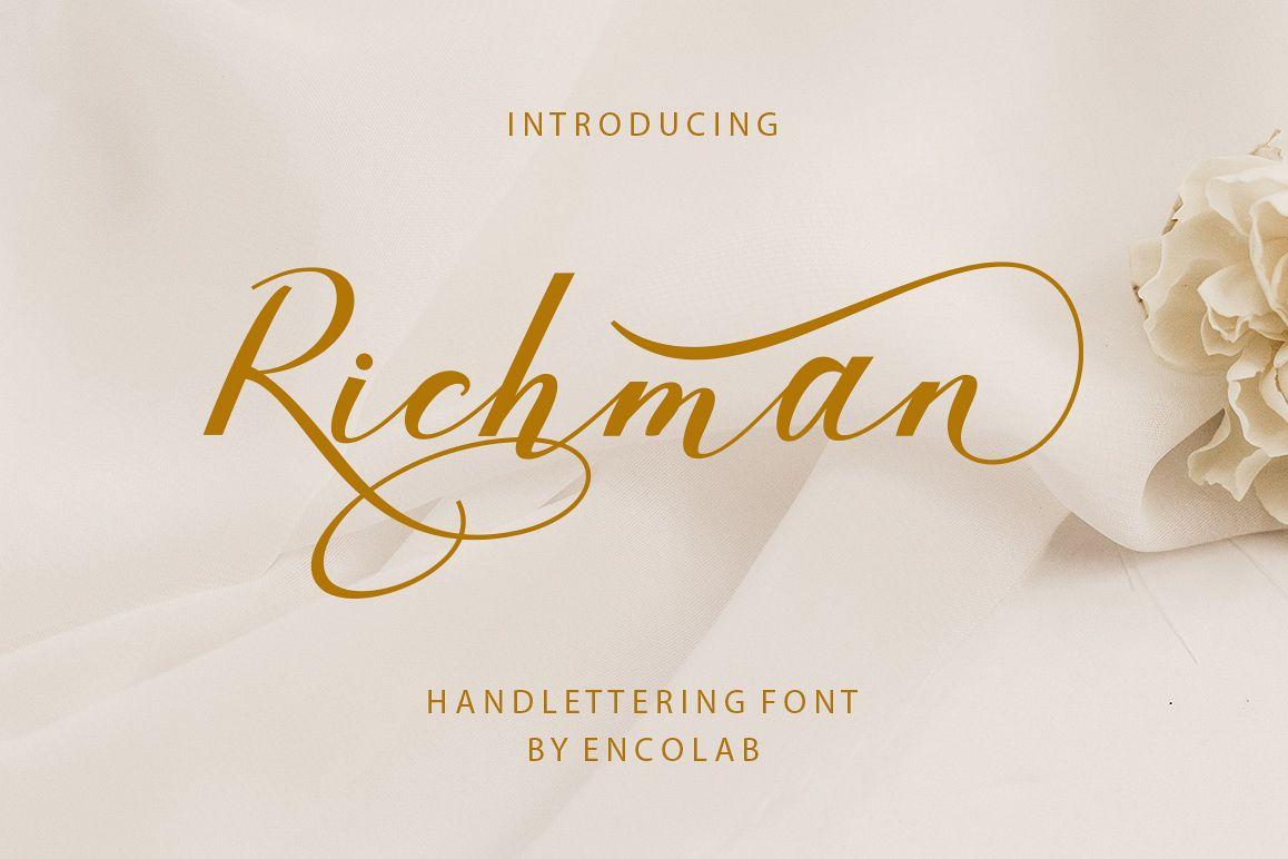 Richman浪漫文艺手写连笔英文字体下载