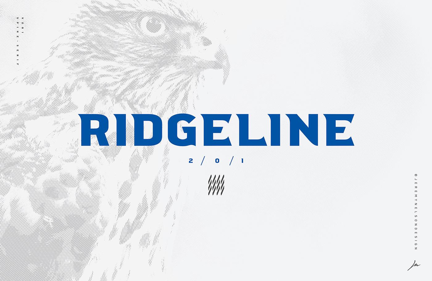 Ridgeline电器工业类logo设计英文字体下载