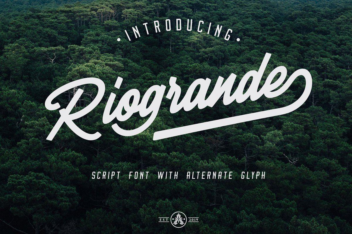 Riogrande手写干净连笔英文字体下载