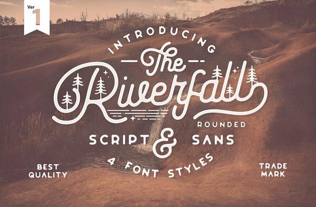 Riverfall手写连笔手绘涂鸦英文字体下载