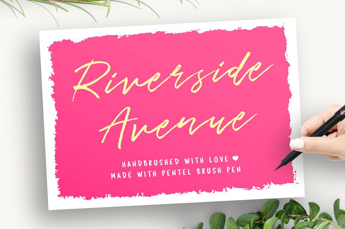 RiversideAvenue手写连笔帅气签名英文字体下载