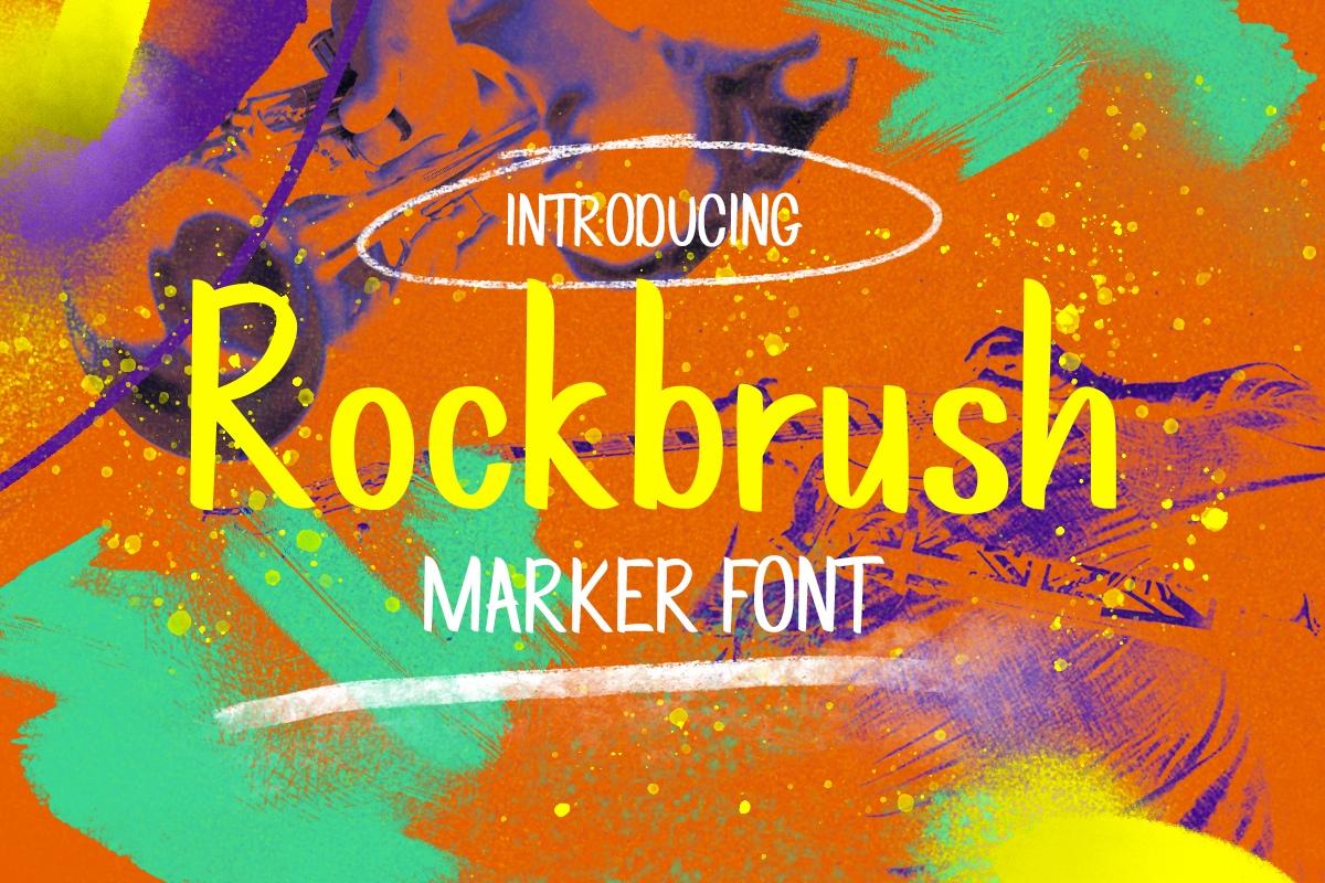 Rockbrush手写笔刷英文字体下载
