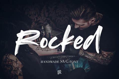 rocked手写手绘笔触笔刷毛笔英文字体下载