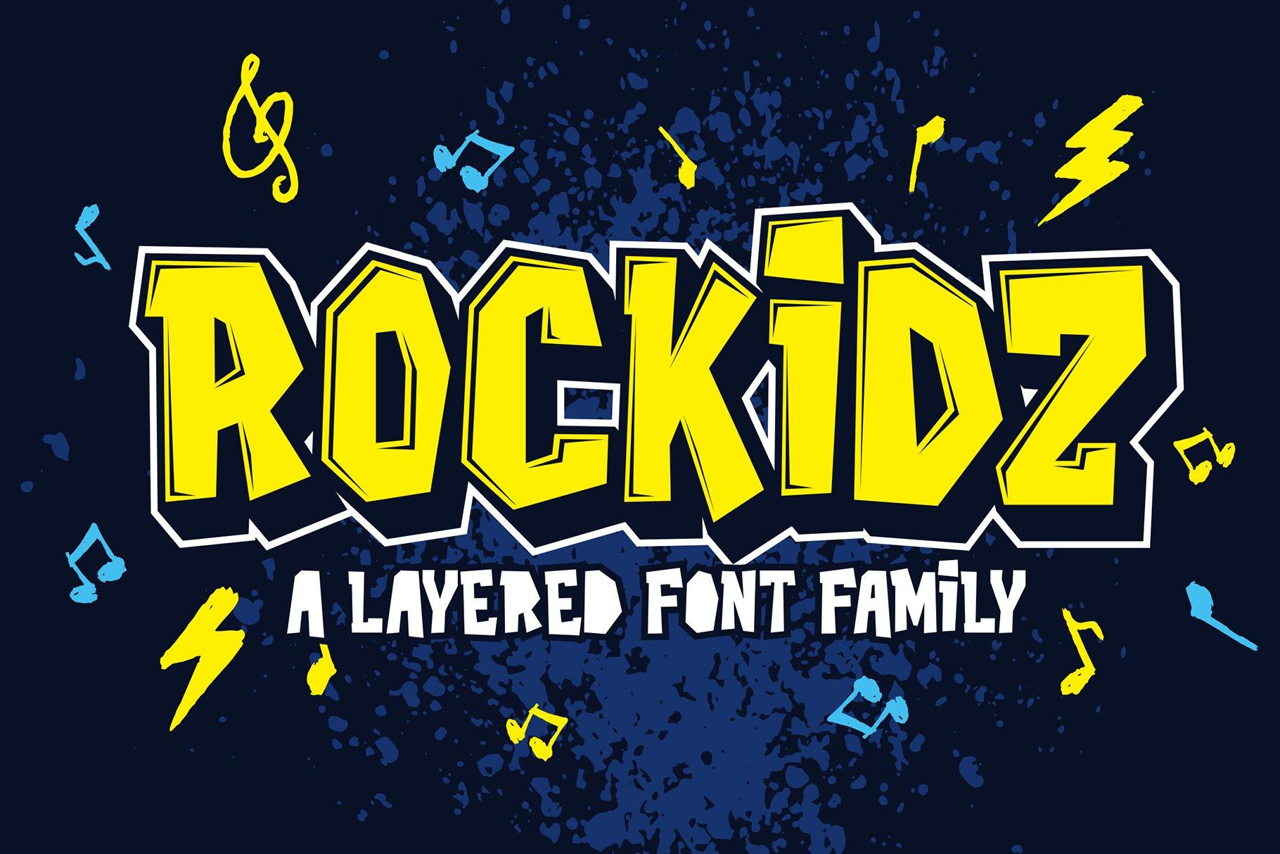 Rockidz可爱个性涂鸦手写英文字体下载