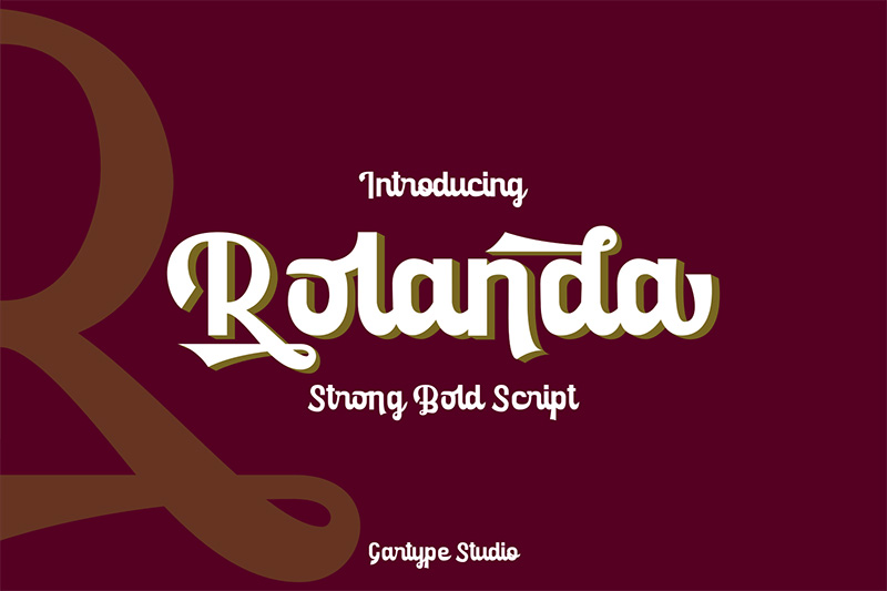 Rolanda个性logo英文字体下载