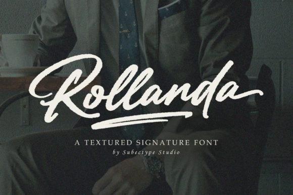 Rollanda奢华手写复古大气笔刷签名英文字体下载