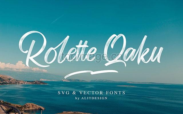 RolleteQaku摄影海报手写笔刷大气英文字体下载