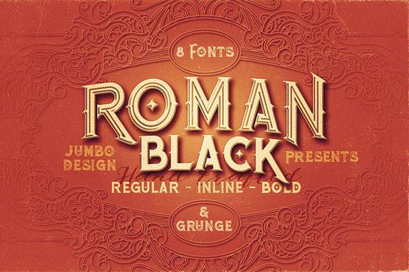 Roman Black哥特个性英文字体下载