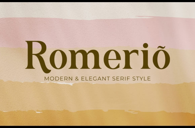 Romerio衬线现代罗马经典英文字体下载