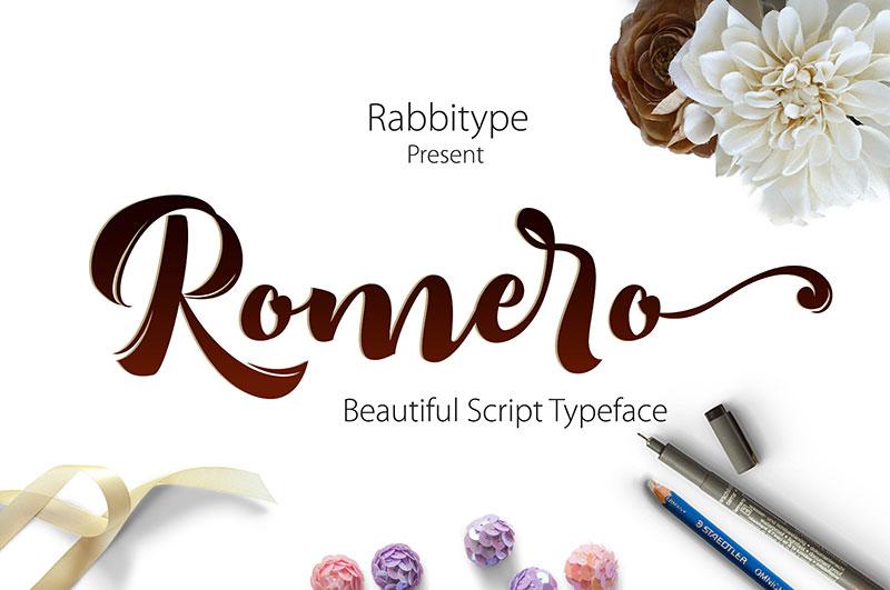 Romero时尚好看的包装logo英文字体下载