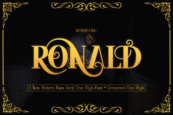 Ronald衬线古典罗马英文字体下载