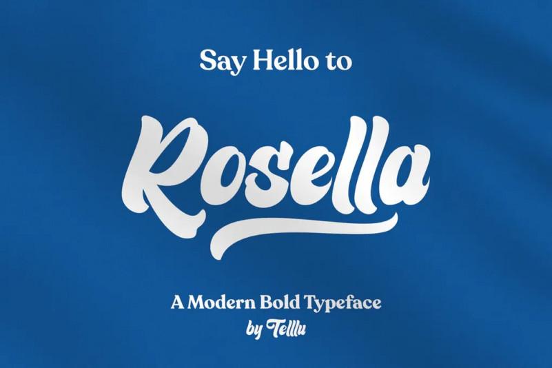 Rosella现代手写花体连笔英文字体下载