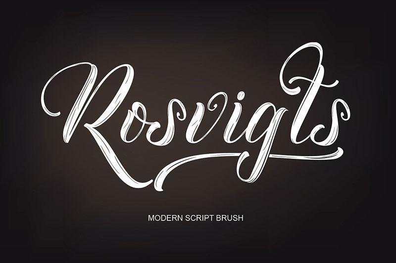 Rosvigts书法手写大气英文字体下载