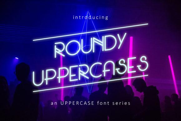 Roundy Uppercases无衬线圆润现代极简英文字体下载