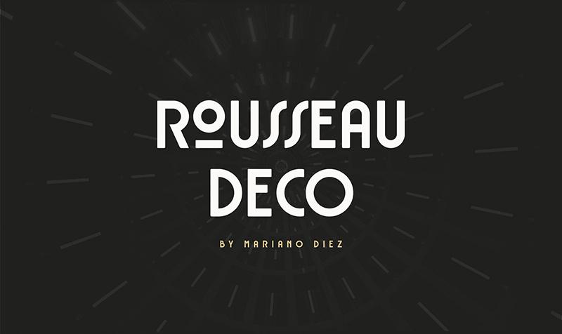 RousseauDeco现代logo英文字体下载