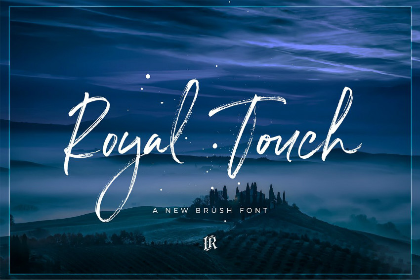 Royal Touch手写书法连笔英文字体下载