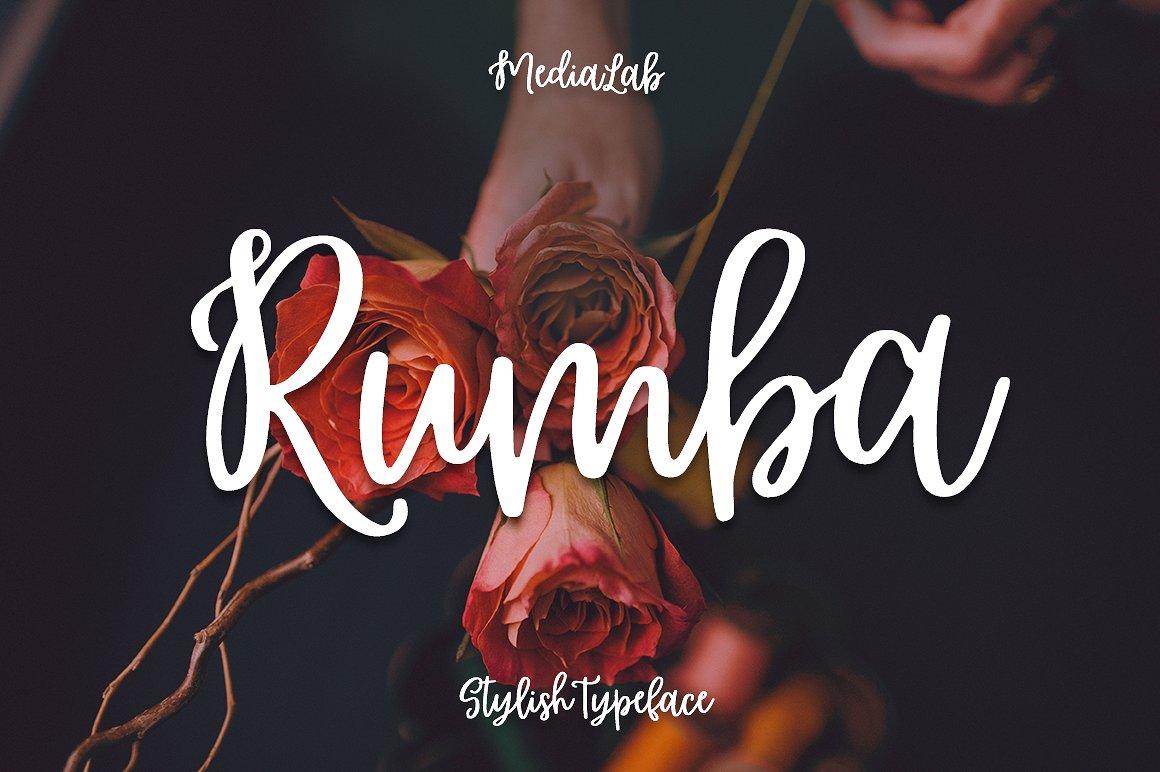 Rumba摄影时尚手写连笔英文字体下载