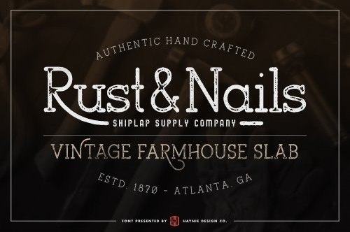 Rust And Nail复古衬线现代英文字体下载
