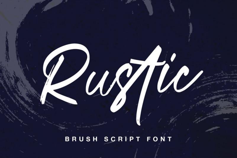 Rustic手写笔刷连笔文艺大气英文字体下载