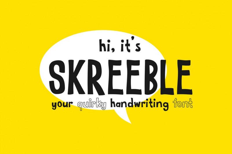 SKREEBLE手写手绘卡通英文字体下载