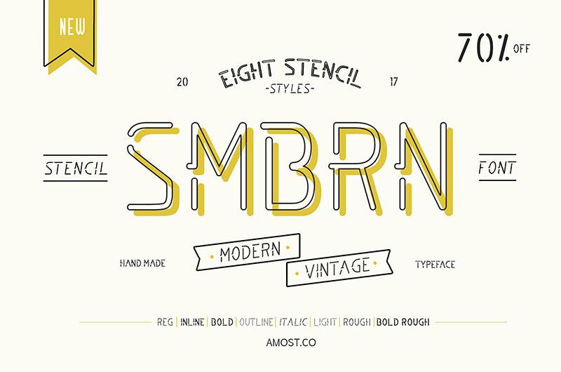 SMBRN现代创意英文字体下载