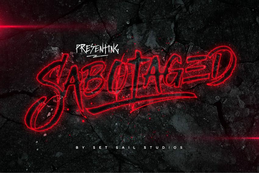 Sabotaged个性手写游戏英文字体下载