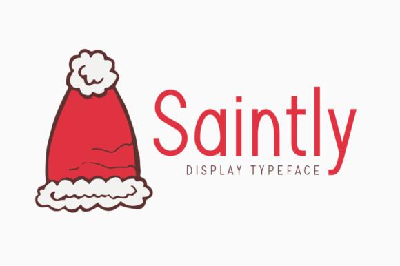Saintly儿童包装手写现代无衬线英文字体下载