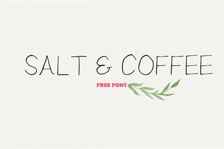 Saltcoffee手写餐饮手绘海报英文字体下载