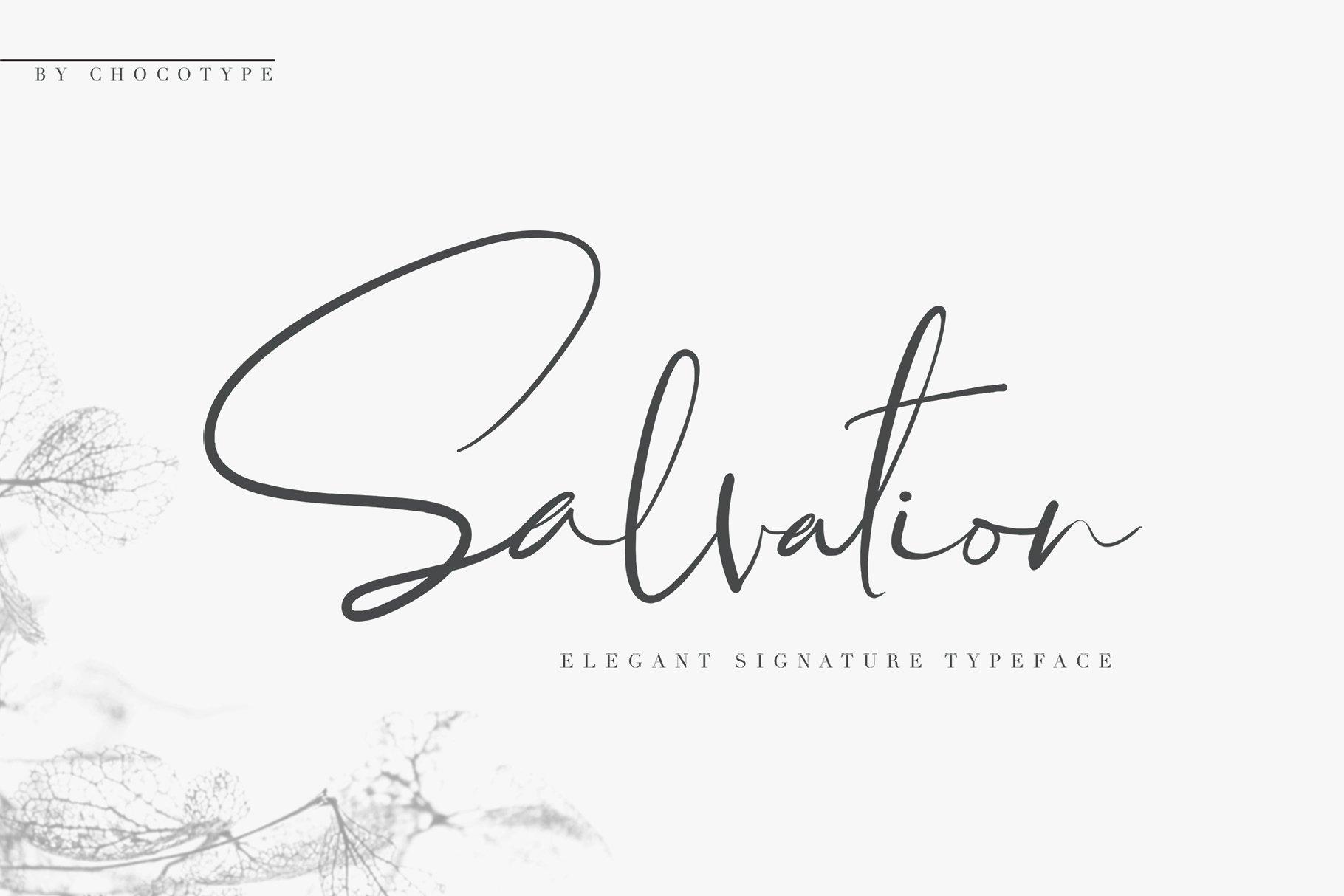 Salvation艺术签名手写个性连笔英文字体下载