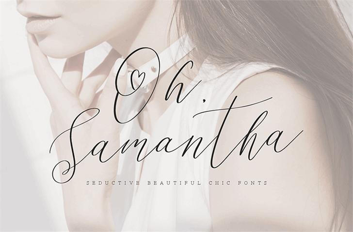 Samantha摄影大片手写连笔英文字体下载