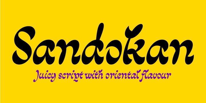 Sandokan个性设计英文字体下载