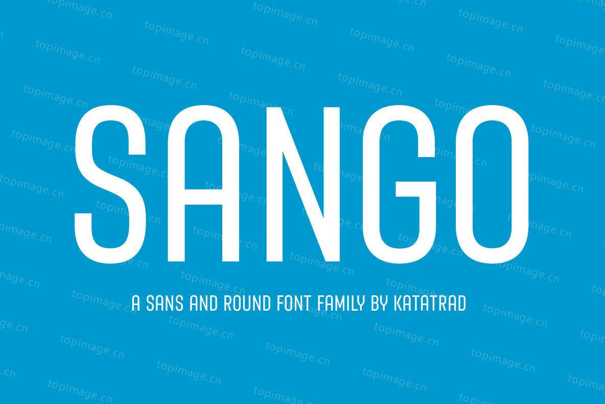Sango现代简洁好看的设计ps英文字体下载