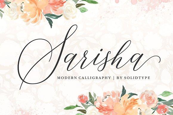 Sarisha花体连笔唯美艺术英文字体下载