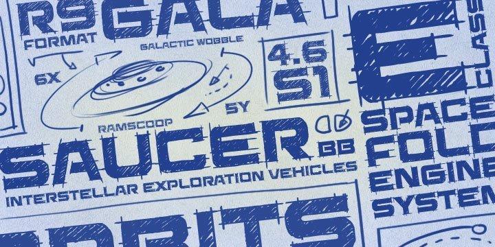 Saucer简约个性斑驳质感艺术英文字体下载