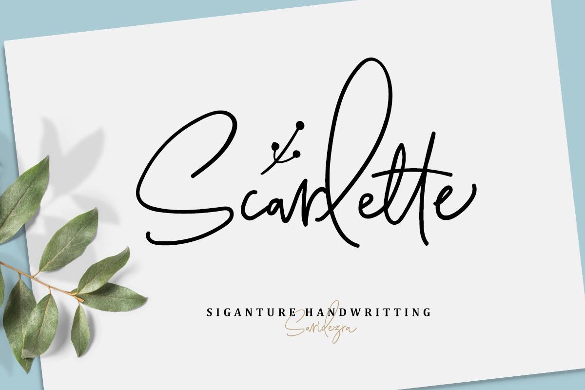 Scarlette手写水印艺术英文字体下载